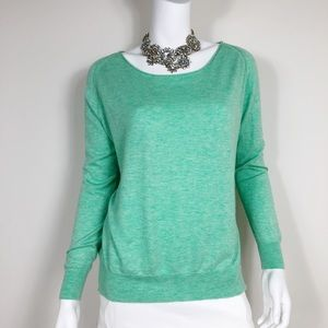 I1-7: Joie Green Boat-neck Cashmere Sweater Small